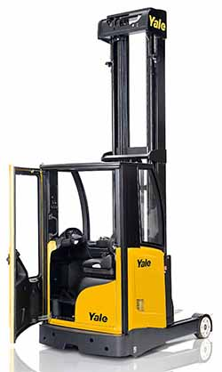 Yale reach truck cold store cabin