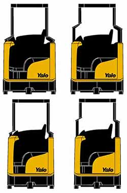 Yale reach truck overhead guard options