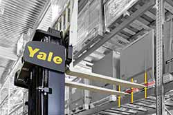 Yale reach truck laser positioning